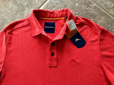 Tommy Bahama Dune Drifter Spectator Polo Shirt Mens L NWT Blazing Orange NWT $98