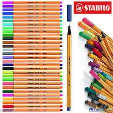 Stabilo Point 88 Fineliner Bolígrafos-Surtido de Colores Cartera de Arte de 30