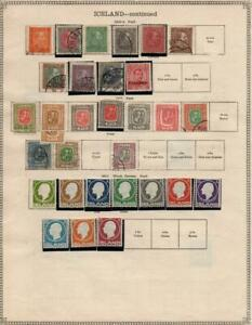 ICELAND: 1882-1911 Examples - Ex-Old Time Collection - 2 Sides Page (41051)