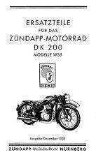 Zündapp, DK200-1935, (35) Ersatzteileliste (Repro)