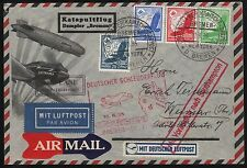 """AUGUST 8,1935 GERMANY TO NEW YORK CATAPULT """"BREMEN"""" SHIP TO SHORE COVER BR7798"""