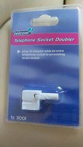 telephone socket double new