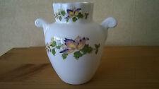 Aynsley Cottage Garden Urn Vase  bone china butterfly design 9cm high