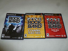 PLAYSTATION 2 VIDEO GAME LOT ROCKBAND TRACK PACK VOLUME 2 COUNTRY COMPLETE PS2