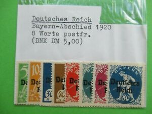 8 STAMPS FROM GERMANY  - GERMAN REICH - 1920 - BAVARIA - RARE