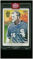 Jim Thome 2019 Topps Archives Buy Back #1/1 AUTO TOPPS 206 Cleveland Indians HOF