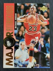 MICHAEL JORDAN 1995-96 Upper MAJOR ATTRACTIONS Card #341 Featuring QUEEN LATIFAH