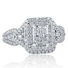 2743c6325baa6 Platinum Radiant Clarity Enhanced Diamond Engagement Rings for sale ...