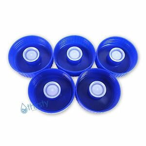 (Lot of 5) Water Bottle 53mm Screw On Caps Anti Splash Non Spill Tops Canteen