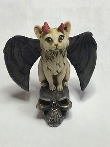 Neil Eyre Designs Halloween Bat Wing Black kitty Cat red devil skull NEW LE12