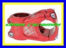 Attacco Manubrio Bici WAG 50mm 10° Stem 31,8 28,6/25,4 MTB ENDURO TRAIL DH ROSSO