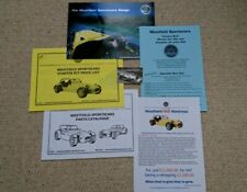 Westfield Kit Car Sales Brochures, Price List, Parts List from 2002