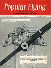 1957 SEPTEMBER 52106 Popular Flying Magazine Cover Advert  ROLLASON ENGINE