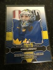 IN THE GAME HOCKEY 2013 HENRIK LUNDQVIST BETWEEN THE PIPES CARD 199 WINTER GAMES
