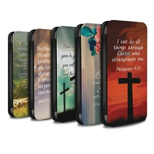 PU Leather Case/Cover/Wallet for Huawei P Smart 2019/Christian Bible Verse