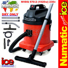 Numatic Nvdq570 Professional Twin Motor Dry Industrial Commercial Vacuum Cleaner