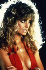 Farrah Fawcett very sexy huge cleavage open red dress 11x17 Mini Poster