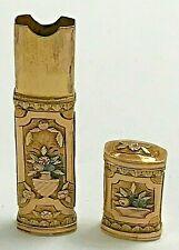 Antique 1820's Tri-Color 14k Solid Gold Etui Needle Case Basket Design Sewing