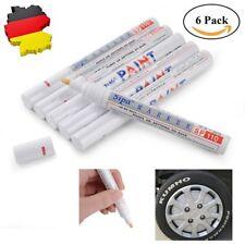 6 x Reifenmarker Reifenmarkierungsstift Weiß KFZ Reifen Stift Reifenmarkierstift