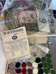 Vintage Readicut Rug Kit Teddy Bear