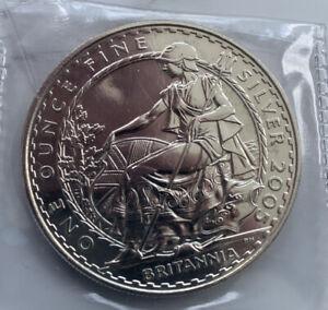 GB ROYAL MINT £2 BRITANNIA 1OZ 2005 SILVER COIN SUPERB QUALITY