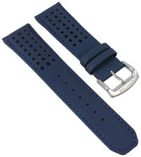 Citizen Blue Angels Uhrenarmband Leder 23mm blau/gelb mit Lochmuster AT8020-03L