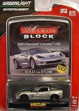 SILVER 2009 CHEVROLET CSR CORVETTE GREENLIGHT 1:64 SCALE DIECAST METAL CAR