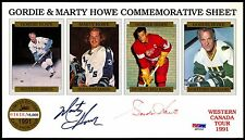 GORDIE HOWE & MARTY AUTOGRPH SIGNED RED WINGS AEROS COMMEMORATIVE PSA DNA COA