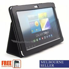 NEW Premium Leather Flip Case For Samsung Galaxy Tab 2 10.1 P5100 P5110+Film
