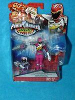 Power Rangers Dino Super Charge 12.5cm Dino Steel Pink Ranger Figure  NEW