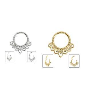 Steel Mandala Clicker Ring