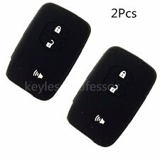 2Pcs Silicone Remote Key Cover Holder Case For Toyota 4Runner Land Cruiser Venza