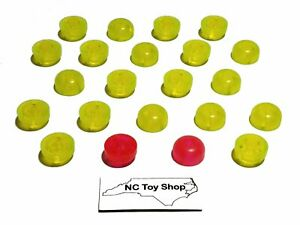 22 K'NEX Translucent Head Top Pieces Tail Light Snake Eyes 20 Yellow +2 Red/Pink