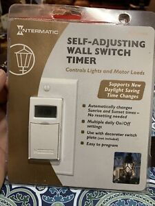 NEW Intermatic Self Adjusting Wall Switch Timer ST01C White Conserves Energy