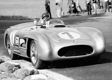 Mercedes-Benz 300 SLR W196 R F1 and Fangio - 1955 racing photograph photo