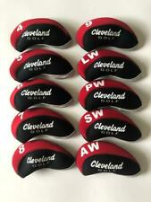 10PCS Golf Iron Headcovers for Cleveland Club Covers 4-LW Red&Black Universal