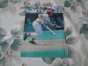 PETE ROSE  POSTER COLOR 8 BY 11 1985