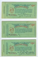 3 Complete WWI, Military Entertainment Service, Smileage Books, 60 Tickets