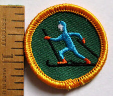 Girl Scout Junior CROSS COUNTRY SKIING BADGE Council Own Patch Winter Sports Ski
