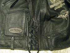 Harley Davidson Leather Motorcycle Jacket Limited H-D Biker Bull Skull Mens M