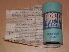 Vecchio ABRA STICK PIETRO ROSSI Firenze per pulire scarpe in pelle + istruzioni