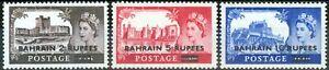 Bahrain 1958 set of 3 SG94a-96a Type II V.F MNH