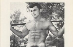GAY: Vintage 1960s Nude Male 4x5 Physique Art Photo Card SIX-PACKED BEAUTY o6