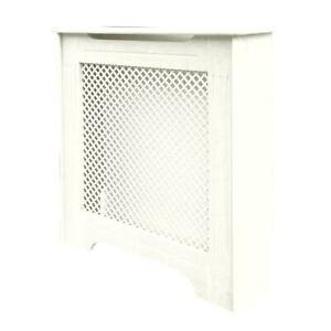 Victorian Radiator Cabinet White 820x210x868mm MDF Easy Access Cover Surround UK