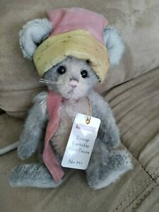 """Charlie Bears Minimo """"Teacup"""" 2017 Isabelle Lee mohair mouse w/tags and bag"""