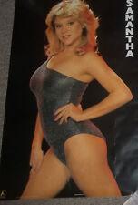 SAMANTHA FOX PIN UP POSTER, Vintage 1987. nice shape