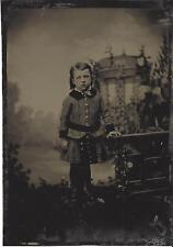 "Youngster with Folly Tintype 5 x 7"" Arbor Boy or Girl?"