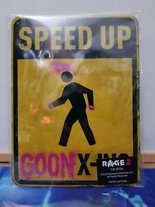 "RAGE 2 Tin Sign Bethesda 6.5"" x 8.5"" Lootcrate"