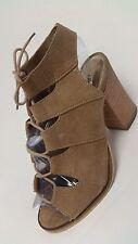 Diba True Tren Dee Women's Tan Suede Sandal US size 6 EUC