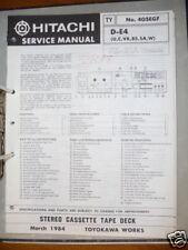 manuels de réparation pour Hitachi d-e4 Platine cassette original